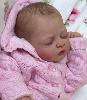 UK Unpainted Reborn Doll Kits with 3/4 Limbs Doll Kits For Newborn Baby 20''