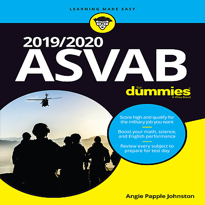 🗽2019/2020 ASVAB For Dummies by Angie Papple Johnston FULL VERSION HD PDF