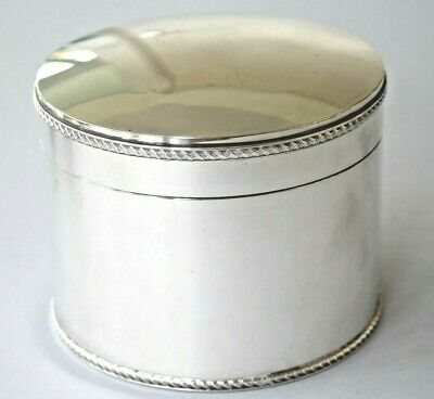 Vintage Garrard & Co silver plated large round lidded box or caddy