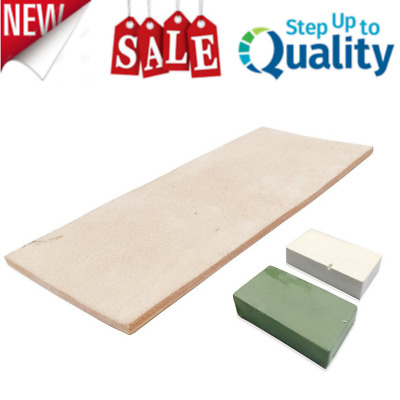 Leather Honing Strop 3 Inch by 8 Inch with 2oz. Green White Compound Heavy Duty