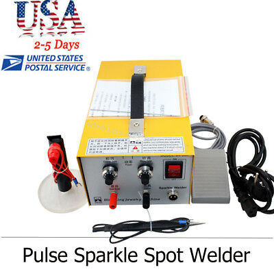USA SHIP Pulse Sparkle Spot Welder 110V/220V Electric Jewelry Welding Machine