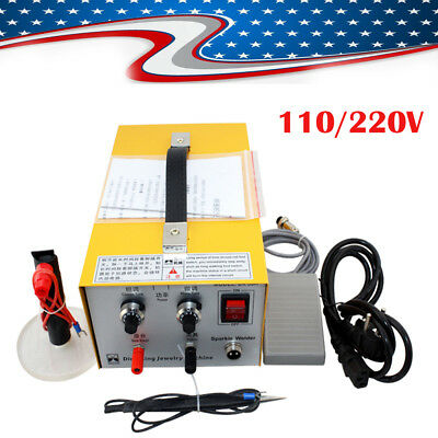 Electric Pulse Sparkle Spot Welder Jewelry Welding Machine Gold Silver Platinum