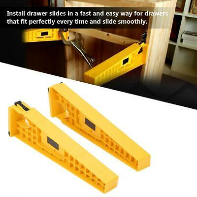 2pc Drawer Slide Jig for Cabinet Draw Slides Mounting Woodworking Carpentry Tool
