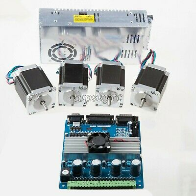 4 Axis Nema 23 Kit (4pcs Stepper Motors +4-Axis Driver Board +  Power supply) ts