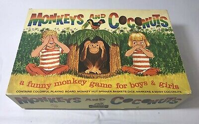 OLD VINTAGE GAME! Monkeys and Coconuts Vintage Children's Game Schaper 1965 #900