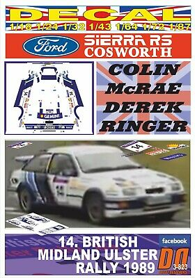 DECAL FORD SIERRA RS COSWORTH COLIN McRAE ULSTER R. 1989 DnF (03)