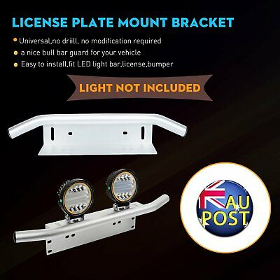 Universal 23'' LED Light Holder Bull Bar Bumper License Plate Mount Bracket SUV