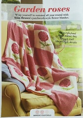 Knitting Pattern Aran Blanket Throw Knitted In Squares Then