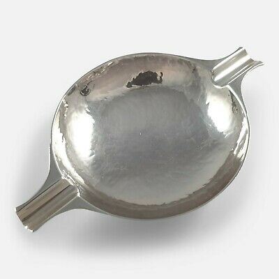 Scottish Sterling Silver Hammered Ash Tray William Robb Edinburgh 1924