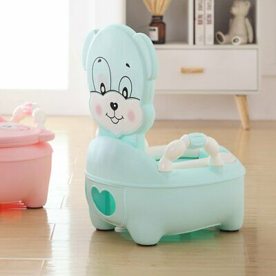 Blue Baby Toilet Trainer Child Toddler Kid Music Potty Training Seat Fun Chair