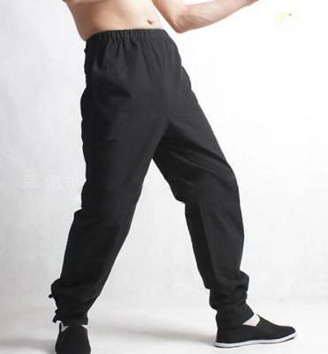 Mens Cross Pants Trousers Chinese Japanese Style Kung Fu Tai Casual Trousers