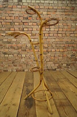 1950s Vintage Flower Stand Bamboo Flowers Etagere Flower Stand mid Century Retro