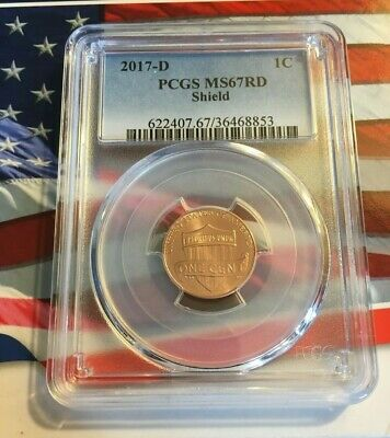 2017 D Lincoln SHIELD Cent 1c PCGS MS67RD GREAT SPOTLESS COIN