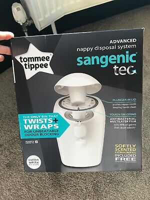 Tommee Tippee Sangenic Baby Nappy Diaper Disposal System And Free Refill