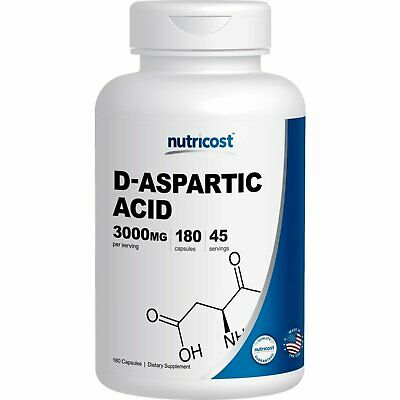 Nutricost D-Aspartic Acid Capsule 180 Capsules 3000mg Serving Made in the USA