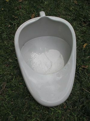 Vintage White Ceramic Chamber Pot Slipper Bedpan - Plant Pot - Dip Bowl