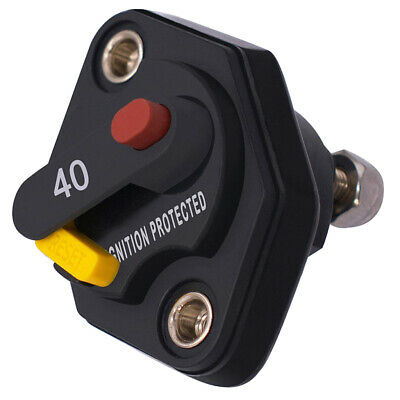 Waterproof Circuit Breaker with Manual Reset Button for Car Boat 40A