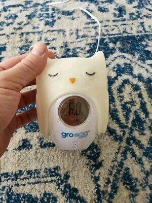 Gro Egg Thermometer And Night Light With Orla The Owl Cover