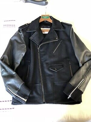 2f1f4bafd CALVIN KLEIN VINTAGE Mens Collection Genuine Leather Jacket Made In ...