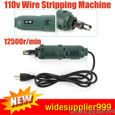 110V Handheld Magnet Wire Stripping Stripper Cutter Machine 10000 r//min
