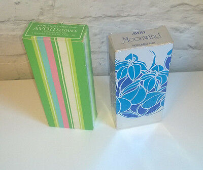 Vintage Avon Moonwind And Elegance Soap And Talc Sets