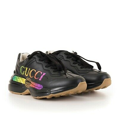 61243b22140 GUCCI 890  RHYTON Gucci Logo Sneakers In Pink Leather -  600.00 ...