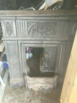 Stovax Cast Iron fireplace surround and mantel, lower grate and basket