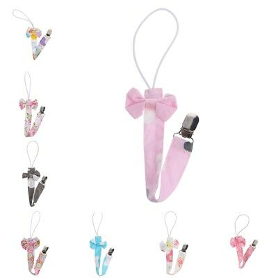 Newborn Baby Pacifier Clips Chain Strap Soother Dummy Nipple Holder SU