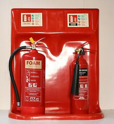 Fire Extinguisher Double Stand FiberGlass Workshop Home Shed Garage Public Place