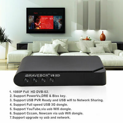1080P iBRAVEBOX V8 HD DVB-S2 DECODER RICEVITORE TV Satellitari PVR USB WIFI TV