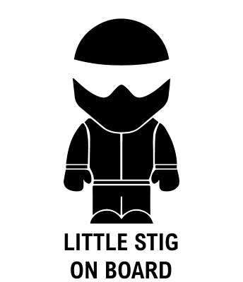 Little Stig On Board Baby Child Window Bumper Car Sign Decal Sticker VW T5
