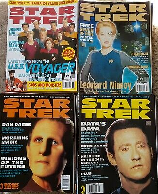 STAR TREK THE OFFICIAL MONTHLY MAGAZINE COLLECTION OF 83 ISSUES FROM No 3 1995
