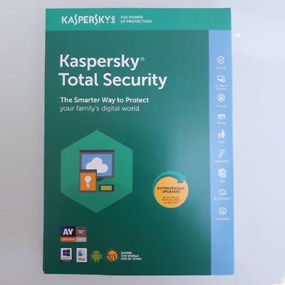 Kaspersky Total Security 2019 Windows/MAC/Android Antivirus Official 1 Year