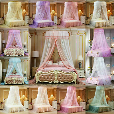 Round Bed Curtain Child Bed Canopy Netting Bedcover Mosquito Net Lace Bedding