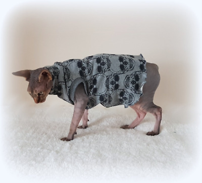 SKULLS, Sphynx clothes,coat top for a Sphynx cat - cat clothes, Hotsphynx..