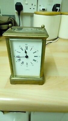 Vintage E.. Dobell Brass clock with inscriptions 1882