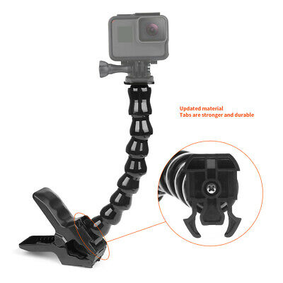 1/4 - 20 Screw Flexible Jaws Grip Clamp Mount for GoPro Hero Camera