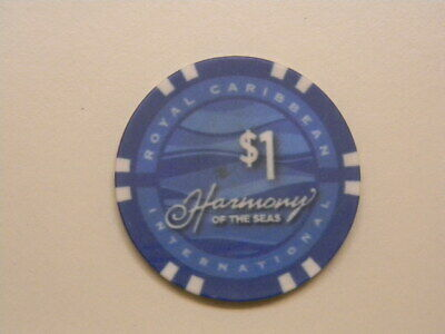 "Royal Caribbean Cruise Line RCI $1.00 Casino Chip Token ""HARMONY  OF THE SEAS"""