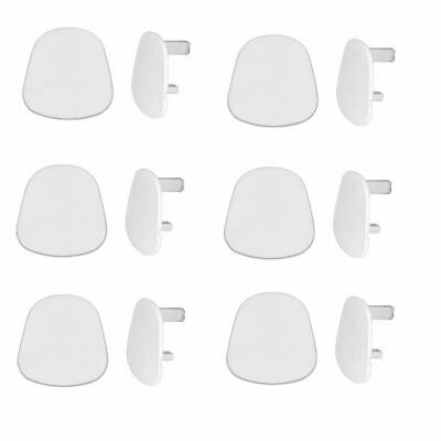 6 X Wall Plug Socket Safe Blank Cover Cap Electric Main Baby Child Protect New