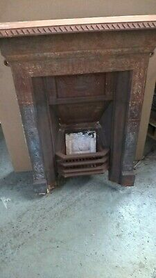 Victorian Cast Iron Combination Fireplace all in one fireplace