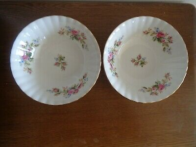 Royal Albert Moss Rose Cereal / Fruit Bowls X 2 1St Quality