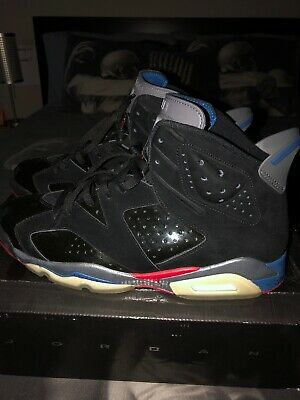 wholesale dealer 82f3d 95201  immaculate  - Nike Air Jordan 6 Retro Vi Black Red Blue Pistons 384664-