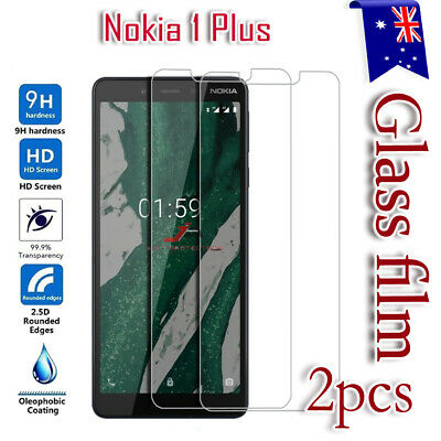 2X Nokia 1 Plus Tempered Glass Scratch Resist LCD Screen Protector Film Guard