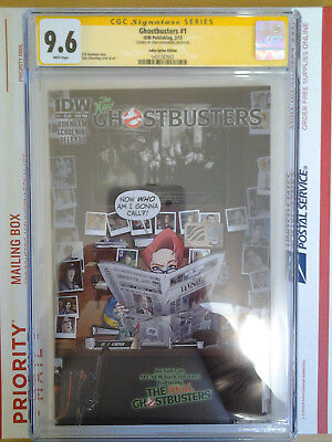 Idw Ghostbusters #1 Subscription Edition Cgc Ss 9.6 Signed By Dan Schoening