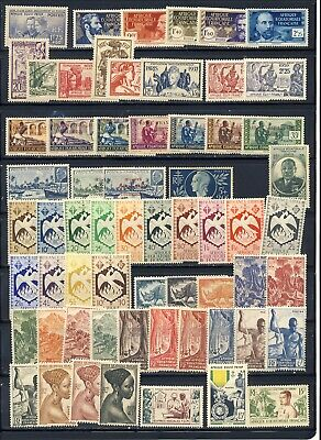 French Equatorial Africa mlh, mnh  stamp collection on two stockpages