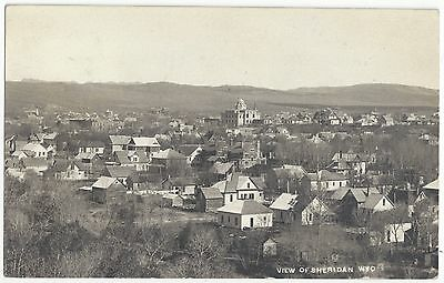 1911 Sheridan, Wyoming - REAL PHOTO Town View - Vintage  Postcard