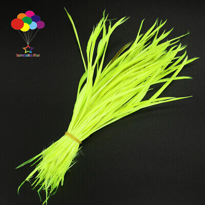 Goose Feathers 20-25cm 8-10 inch Carefully Crafted Smooth Dyed Fluorescent green