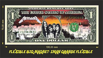 Metallica Master Of Puppets Iman Billete 1 Dollar Bill Magnet
