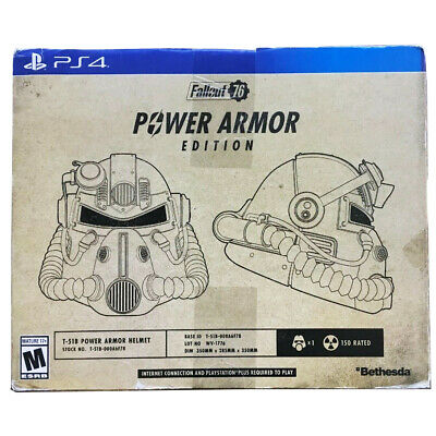 Fallout 76 Power Armor Collector's Edition Boxed Set W T-51b Helmet - PS4 Sealed