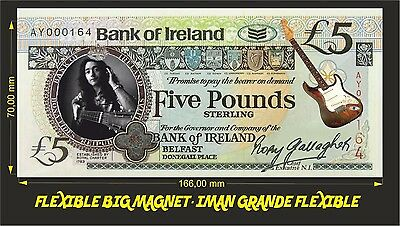 Rory Gallagher IMAN BILLETE 1 DOLLAR BILL MAGNET Dead man